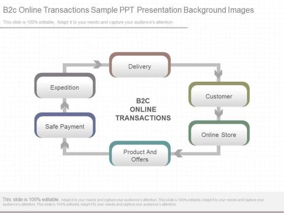 B2c Online Transactions Sample Ppt Presentation Background Images