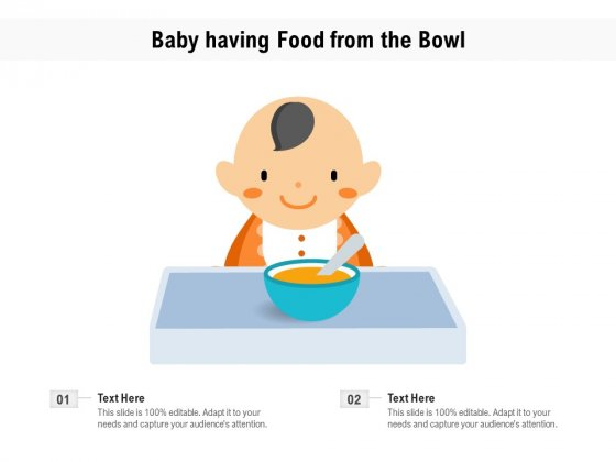 Baby_Having_Food_From_The_Bowl_Ppt_PowerPoint_Presentation_Gallery_Maker_PDF_Slide_1