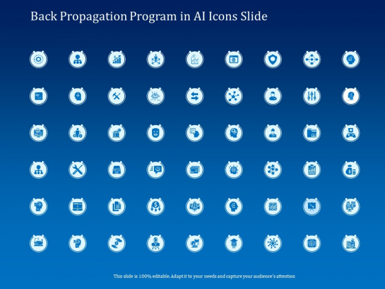 Back Propagation Program AI Icons Slide Ppt Pictures Example PDF