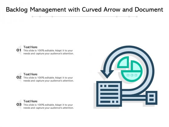 Backlog Management With Curved Arrow And Document Ppt PowerPoint Presentation Gallery Information PDF