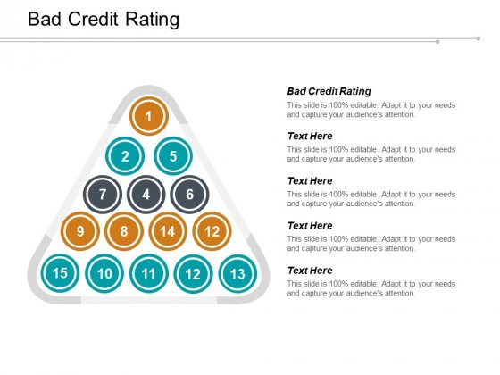 Bad Credit Rating Ppt PowerPoint Presentation Professional Show Cpb