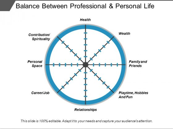 Balance Between Professional And Personal Life Ppt PowerPoint Presentation Pictures Themes