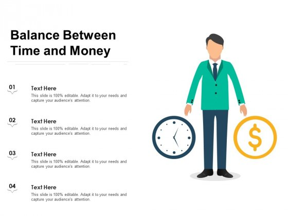 Balance Between Time And Money Ppt PowerPoint Presentation Outline Themes PDF