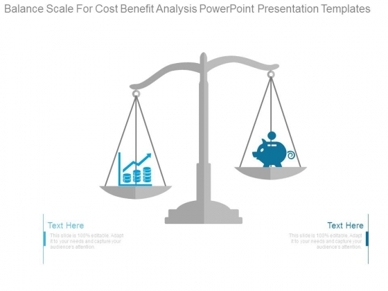 balance scale for cost benefit analysis powerpoint presentation, Modern powerpoint
