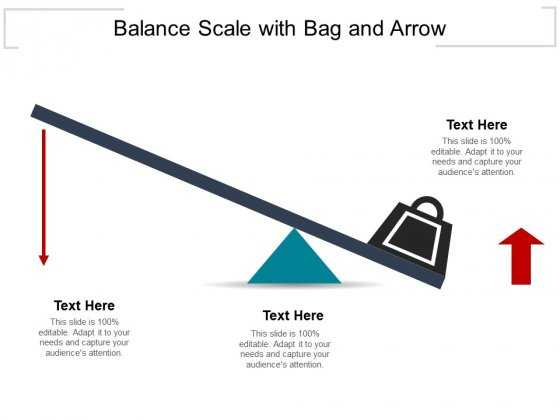 Balance Scale With Bag And Arrow Ppt PowerPoint Presentation Portfolio Icons