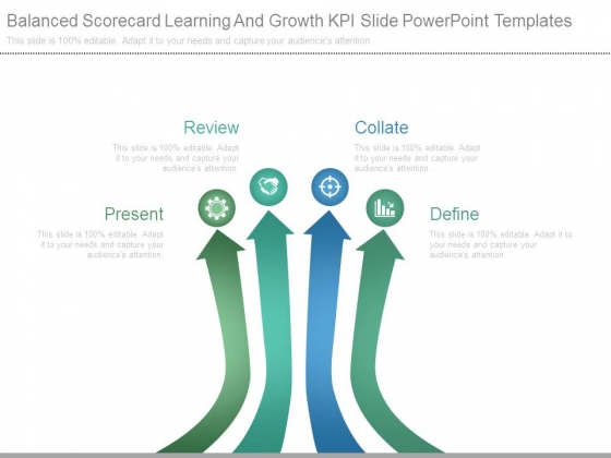 Balanced Scorecard Learning And Growth Kpi Slide Powerpoint Templates