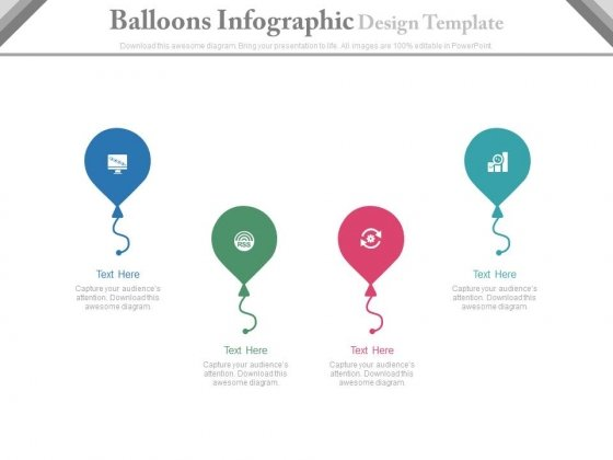 Balloons Infographic Design Template Powerpoint Template