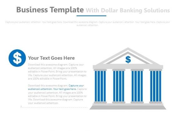 Bank Design For Cash Flow Formula Powerpoint Slides