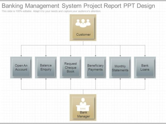 Banking Management System Project Report Ppt Design