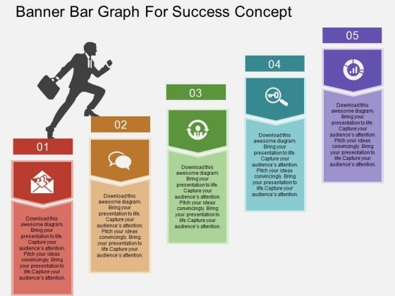 Banner Bar Graph For Success Concept Powerpoint Template