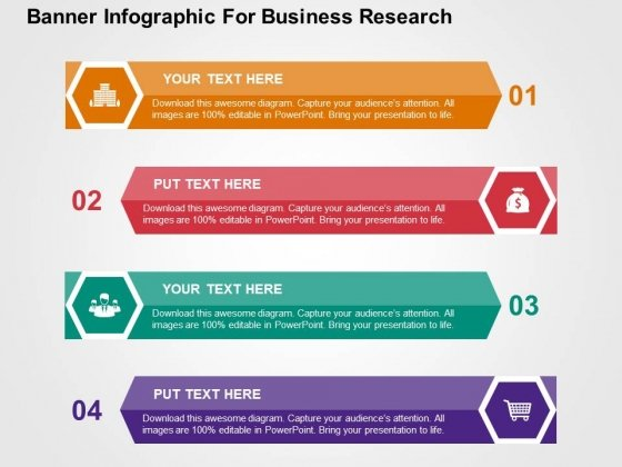 banner infographic for business research powerpoint templates, Presentation templates