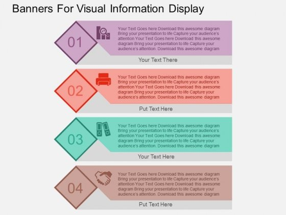 Banners For Visual Information Display Powerpoint Templates