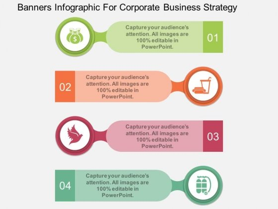 Banners Infographic For Corporate Business Strategy Powerpoint Template