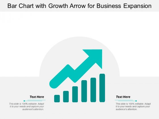 Bar Chart With Growth Arrow For Business Expansion Ppt Powerpoint Presentation File Vector