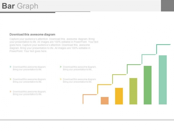 Bar Graph For Business Growth Steps Powerpoint Slides