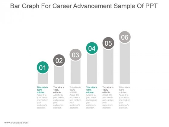 Bar Graph For Career Advancement Sample Of Ppt