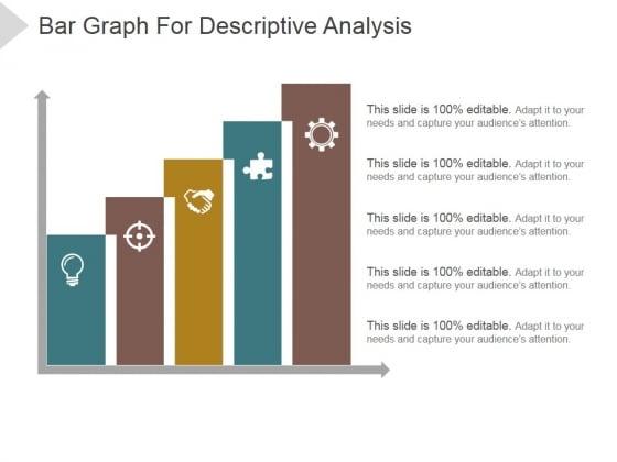 Bar Graph For Descriptive Analysis Ppt PowerPoint Presentation Shapes
