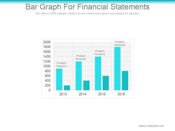 Bar Graph For Financial Statements Ppt PowerPoint Presentation Example