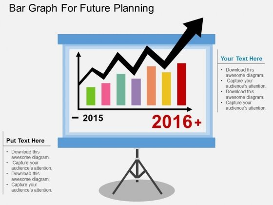 Bar Graph For Future Planning Powerpoint Template