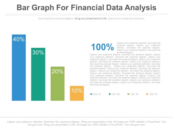 Bar Graph For Profit Growth Analysis Powerpoint Slides