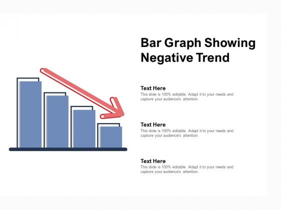 Bar Graph Showing Negative Trend Ppt PowerPoint Presentation Summary Master Slide