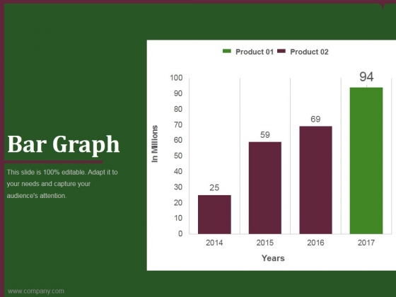bar graph template 2 ppt powerpoint presentation gallery