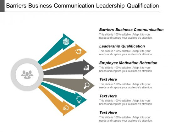 Barriers Business Communication Leadership Qualification Employee Motivation Retention Ppt PowerPoint Presentation Professional Layout Ideas