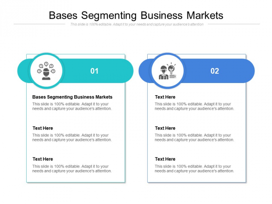 Bases Segmenting Business Markets Ppt PowerPoint Presentation Pictures Infographic Template Cpb