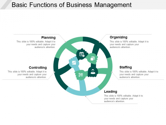 Basic Functions Of Business Management Ppt PowerPoint Presentation Show Samples