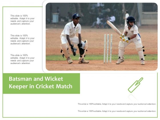 Batsman And Wicket Keeper In Cricket Match Ppt PowerPoint Presentation Gallery Influencers PDF