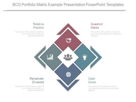 bcg portfolio matrix example presentation powerpoint templates, Modern powerpoint