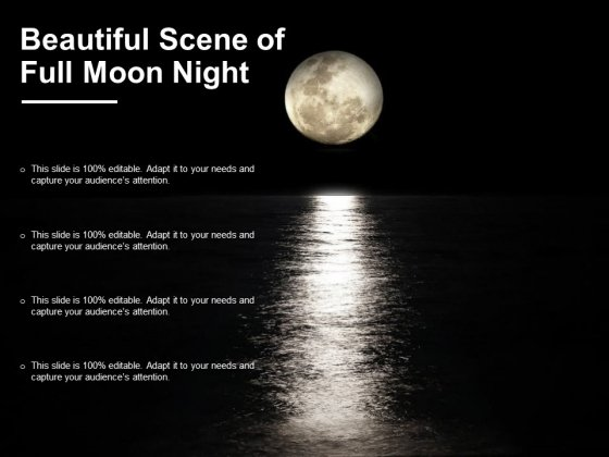 Beautiful Scene Of Full Moon Night Ppt PowerPoint Presentation Infographics Clipart Images