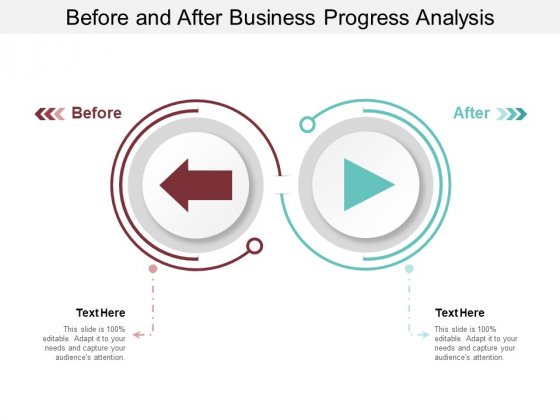 Before And After Business Progress Analysis Ppt PowerPoint Presentation Styles Graphics Pictures