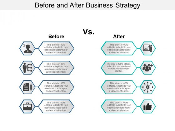 Before And After Business Strategy Ppt PowerPoint Presentation Model Graphics