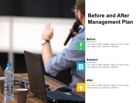 Before And After Management Plan Ppt PowerPoint Presentation Visual Aids Show