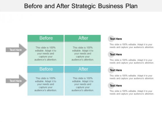 Before And After Strategic Business Plan Ppt PowerPoint Presentation Summary Diagrams