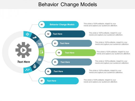 Behavior Change Models Ppt PowerPoint Presentation Portfolio Templates Cpb