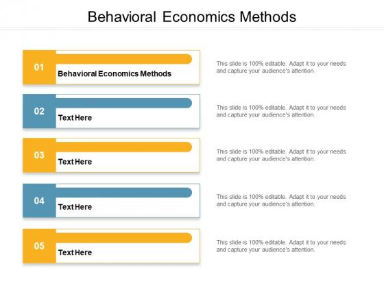 Behavioral Economics Methods Ppt PowerPoint Presentation Infographics Templates Cpb