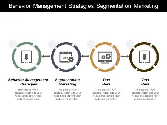 Behaviour Management Strategies Segmentation Marketing Ppt PowerPoint Presentation Ideas Graphics Design