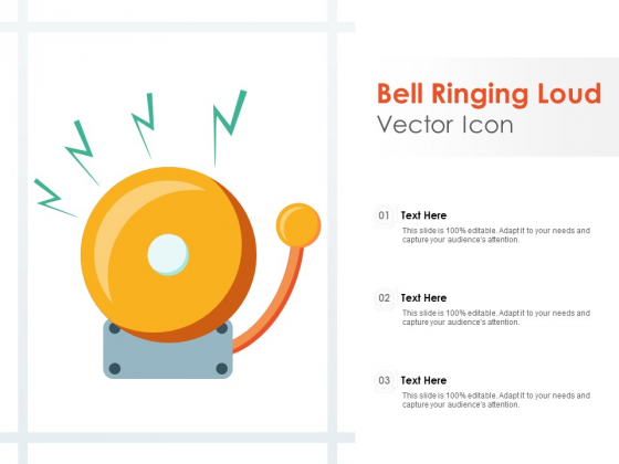 Bell Ringing Loud Vector Icon Ppt PowerPoint Presentation Show Inspiration
