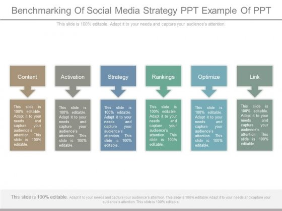Benchmarking Of Social Media Strategy Ppt Example Of Ppt