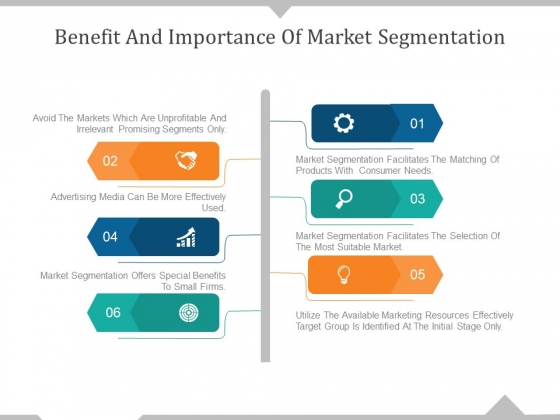 Benefit And Importance Of Market Segmentation Ppt PowerPoint Presentation Styles Templates