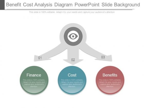 Benefit Cost Analysis Diagram Powerpoint Slide Background