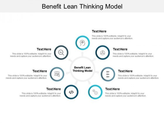 Benefit Lean Thinking Model Ppt PowerPoint Presentation Model Graphics Design Cpb