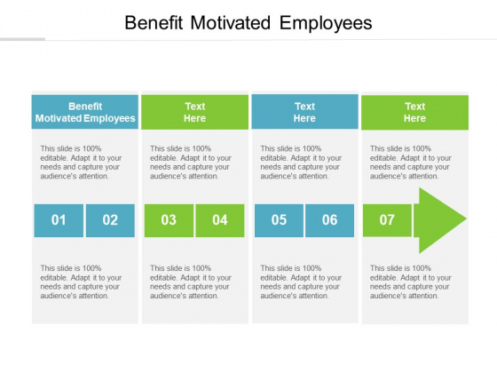 Benefit Motivated Employees Ppt PowerPoint Presentation Gallery Backgrounds Cpb