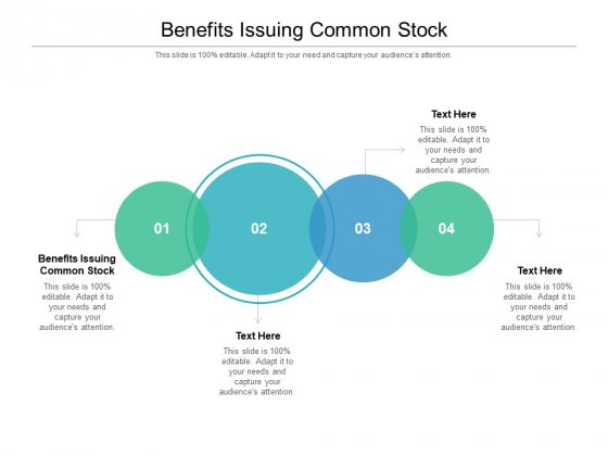 Benefits Issuing Common Stock Ppt PowerPoint Presentation Summary Styles Cpb