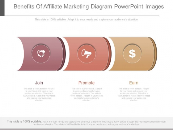 Benefits Of Affiliate Marketing Diagram Powerpoint Images