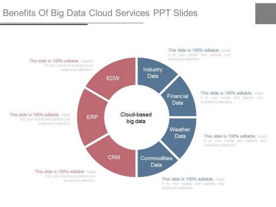 Benefits Of Big Data Cloud Services Ppt Slides