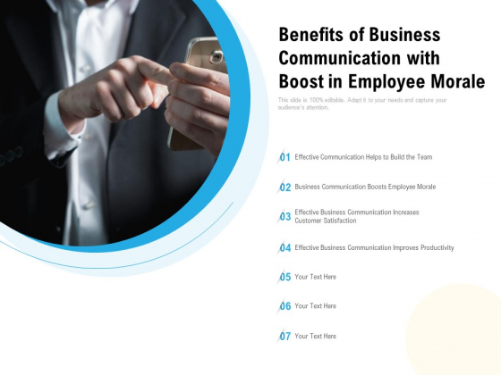 Benefits Of Business Communication With Boost In Employee Morale Ppt PowerPoint Presentation Infographic Template Layouts