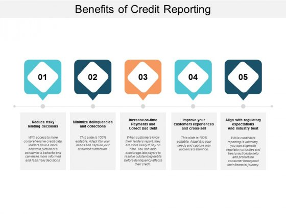 Benefits Of Credit Reporting Ppt PowerPoint Presentation Infographics Brochure